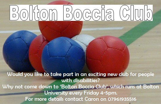 bolton boccia club for people with disabilities