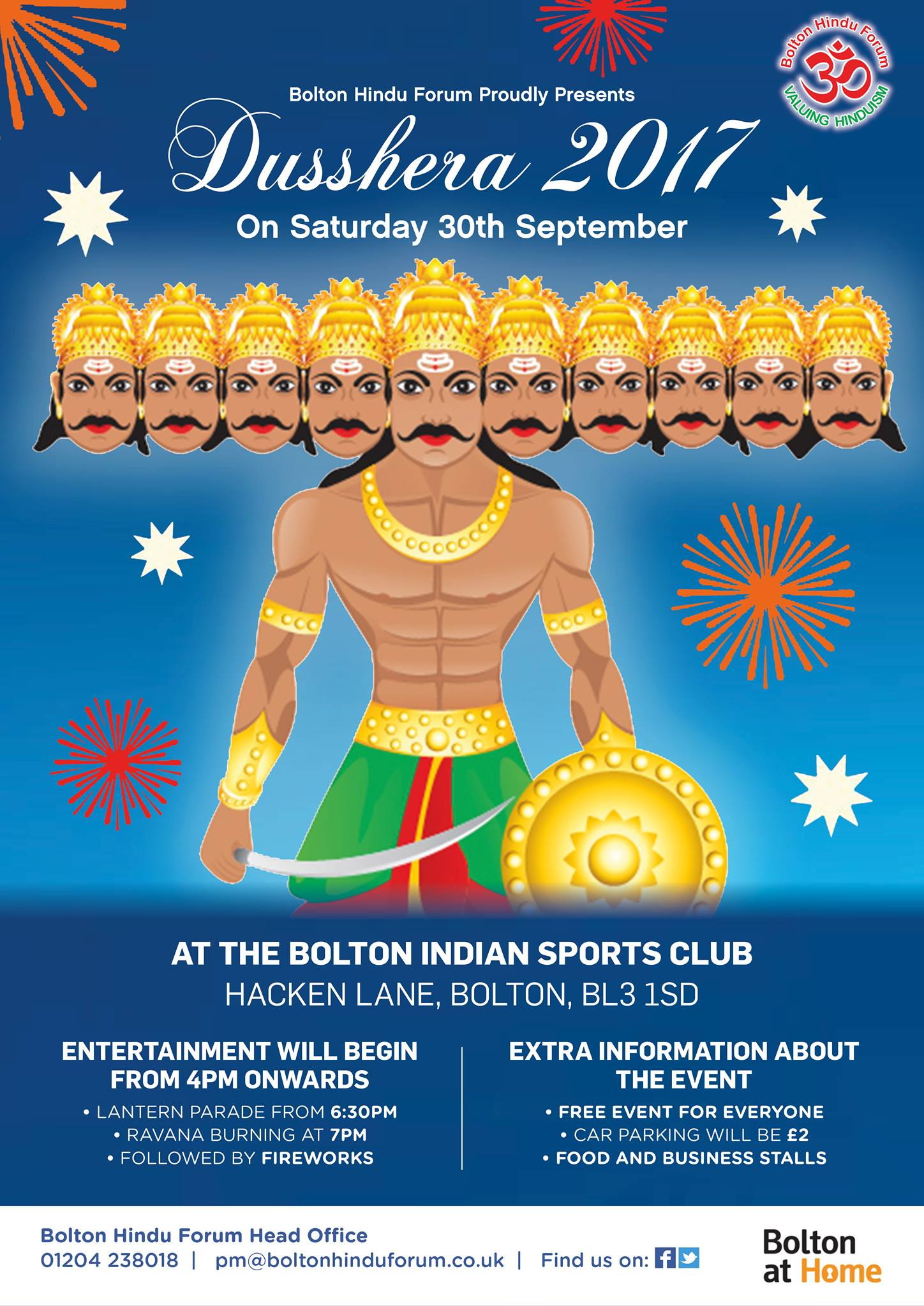 bolton hindu forum invite to dusshera 2017