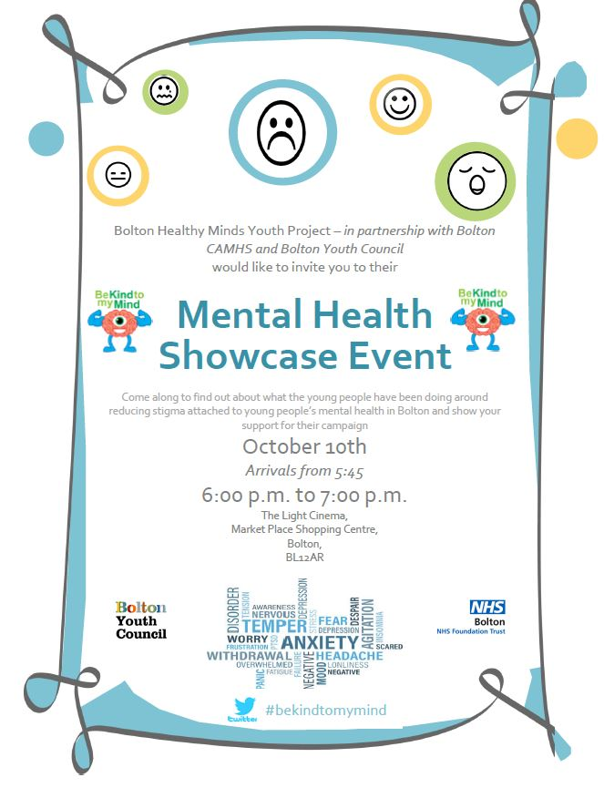 mental health day event bolton cvs