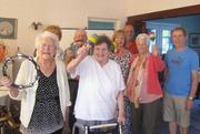 Harwood & Bradshaw Writers bought equipment so they could perform in local sheltered accomodation